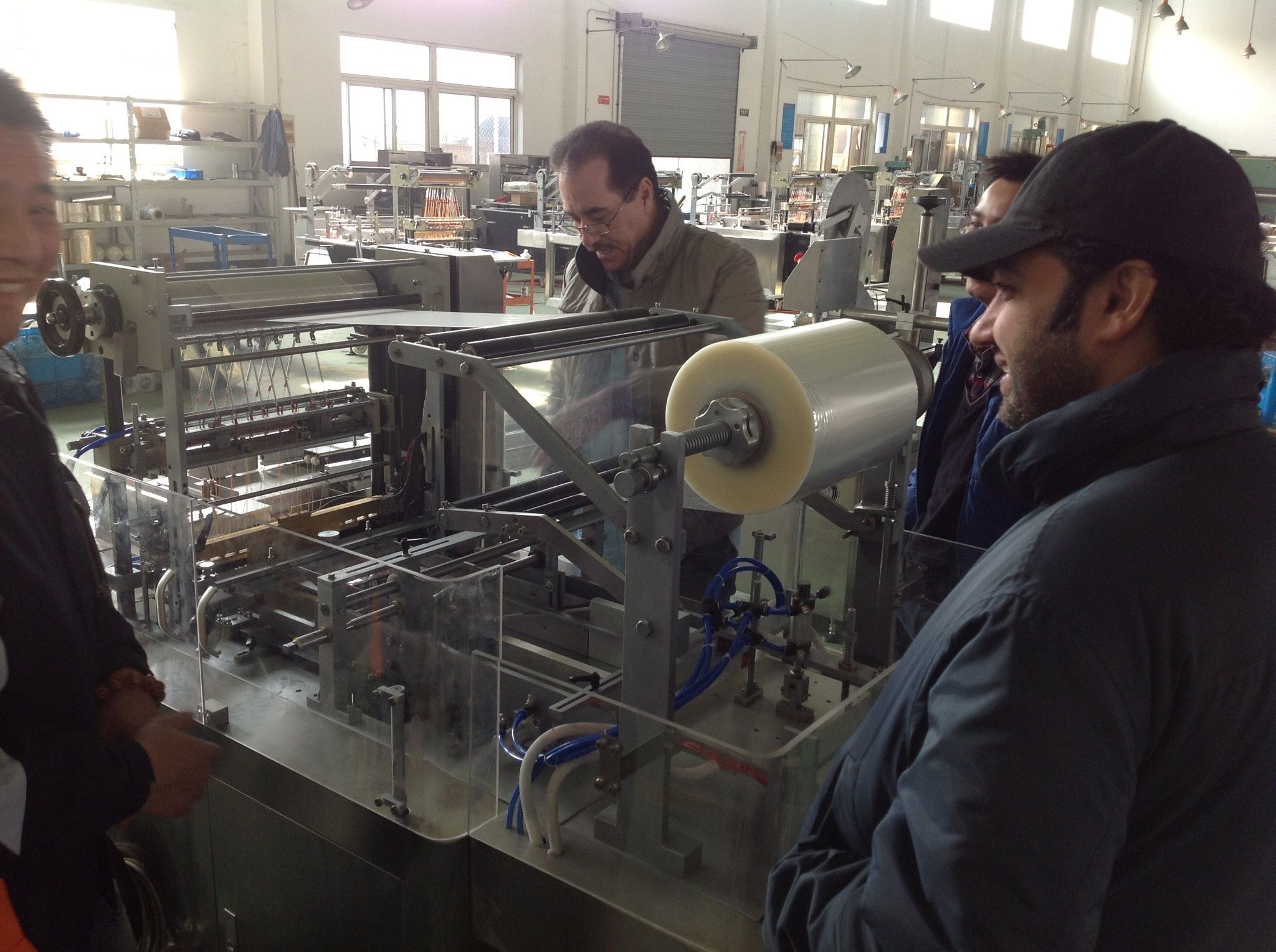Automatic Box Cellophane Packing Machine for Dubai Customer