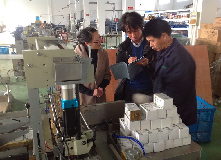 Japan Customer Visiting for Box Cellophane 3D Wrapping Machine